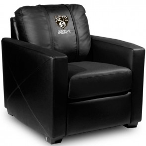 Brooklyn Nets Dillon Silver Club Chair
