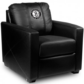 Brooklyn Nets Secondary Dillon Silver Club Chair