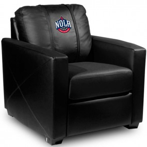 New Orleans Pelicans Secondary Dillon Silver Club Chair