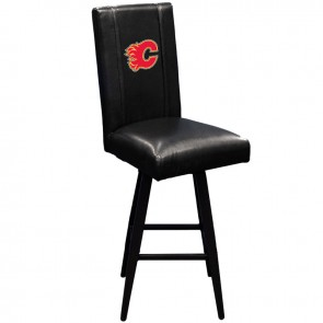 Calgary Flames Red Swivel Bar Stool 2000