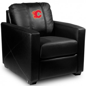 Calgary Flames Red Dillon Silver Club Chair
