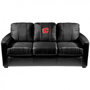Calgary Flames Red Dillon Silver Sofa