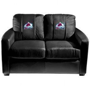 Colorado Avalanche Dillon Silver Loveseat