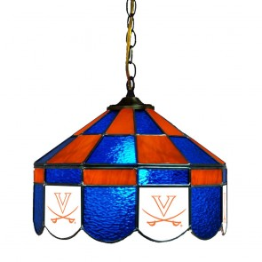"Virginia V with Sabres 14"" Executive Swag Hanging Lamp"