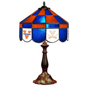 """Virginia V with Sabres and Block V 14"""" Executive Table Lamp"""